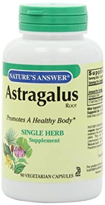 Nature's Answer Astragalus, Root 90 Caps from Natures Answer