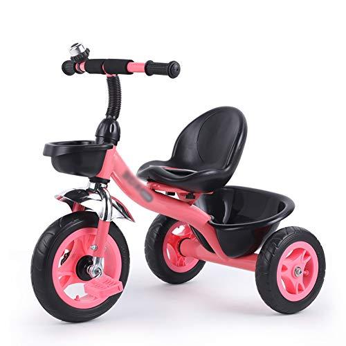 Tricicli Per Bambini Carrozzina per Auto Giocattolo Bimbo Bici Bicicletta da 2-6 Anni (Colore : Pink)