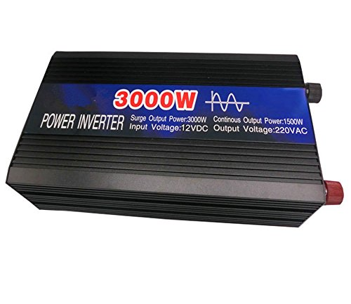 CAM2 1500W sinusoidale pura Inverter 3000W di picco di potenza DC 12V a 230 V ca convertitore di tensione di alimentazione del caricatore 12V batteria Auto Backup Power Charger Power Inverter Solor caricabatteria nave Potenza Motore Marine Power Inverter di alimentazione di emergenza Pack Outdoor caricatore Power Unit sorgente di emergenza di alimentazione Impianti Convertitori di potenza 12V Inverter Generatore Electrical Appliances Converter Per l'uso in Caravan, barche, auto (1500W)