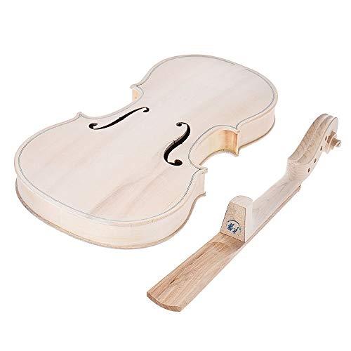 Zufriedenstellendes Produkt DIY Volle Größe Natürliches Massivholz Akustische 4/4 Violine Geige Kit Fichte Top Maple Zurück Hals Jujube Holz Zubehör Aluminiumlegierung Saitenhalter Für Fortgeschritten - Zurück Massivholz