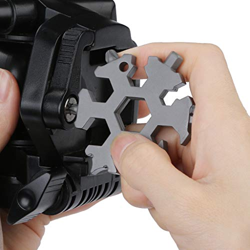 TAOtTAO 6 Schneeflocke-Multifunktions-Gadget Multi-Tool-Kombination kleine tragbare Outdoor-Schneeflocke Schlüsselring Snow Keychain Tools Schneeflocke Form Schlüssel Schlüsselbund Multifunkti (G) - 1-dollar-schlüsselanhänger