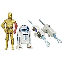 Star Wars - El Despertar de la Fuerza - Figura Snow Mission R2-D2 and C-3PO, 9.5cm, pack de 2 (B3957)
