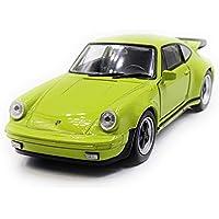 Onlineworld2013 Porsche 911 Turbo 930 Modelo de Auto Deportivo Auto Auto Escala Verde 1:34