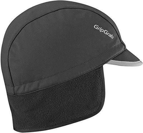 GripGrab Unisex-Adult Windproof Winter Cycling Cap Radsport Mütze, Schwarz, L (60-63 cm)
