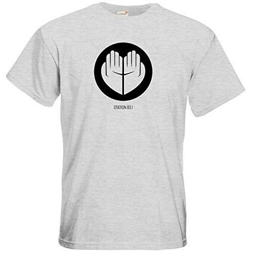 getshirts - Station B3.1 - T-Shirt - Station B3.1 Logo Ash
