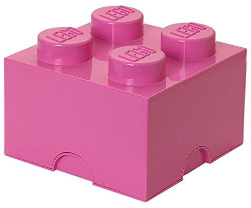 LEGO STORAGE BRICK 4, plastik, hellrosa, M (Kleine Aufbewahrungsbox Kids)