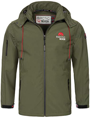 Arctic Seven Herren Designer Softshell Funktions Outdoor Regen Jacke Sport AS087 [AS-087-O