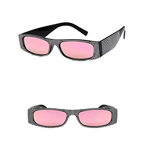VRTUR Brille Diamond Retro-Brille Für Damen der 1950er Jahre eckige Vintagebrille für Karneval Party Kostüm(One size,A)