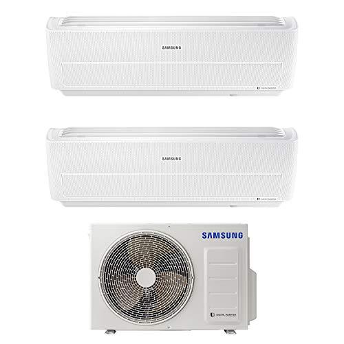 Samsung ar09nxwxbwkneu  9000 btu +ar12nxwxbwkneu 12000 btu  windfree dual split climatizzatore, wi-fi, a+++/a+, 9000+12000 btu