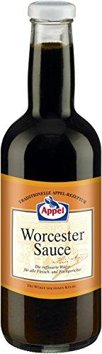 Appel Worcester Sauce, raffinierte Würze für alle Fleisch- und Fischgerichte der feinen Küche, 6er Pack (6 x 1000ml Flasche)