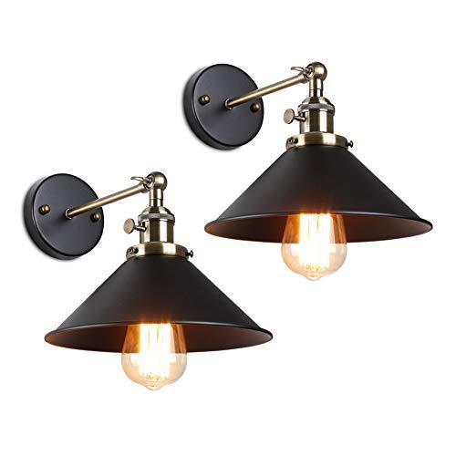 vintage wand lampe knauf schalter loft grüne bronze e27 aluminium lampe inhaber eisen kunst retro restaurant zuhause licht studie lampe (Bronze-2 Pack) (Licht Ändern Schalter Wand Sie)