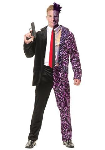 SPLIT PERSONALITY JEKYLL & HIDE HALLOWEEN-KOSTÜM Gr. Medium, Violett - Violett (Charades Halloween Kostüme)