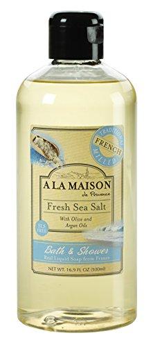 Bain et douche Savon liquide, sel de mer frais - A La Maison de Provence