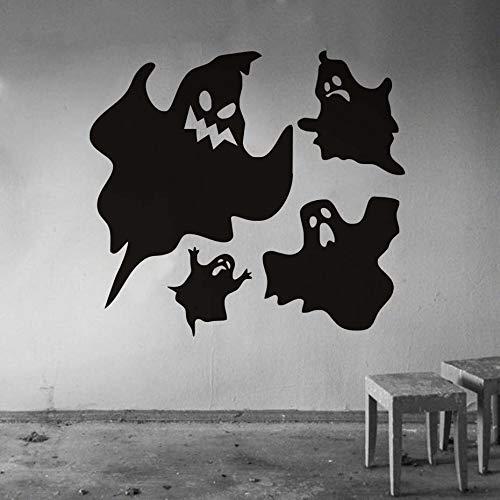 Scary Ghosts Halloween Party Fenster Aufkleber Moderne Wandaufkleber Für Schlafzimmer Wohnzimmer Wohnkultur Wasserdicht Zubehör Wall44 * 40 cm