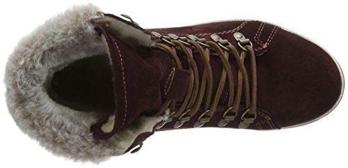 Damen 549 Tamaris bordeaux Rot Boots Combat 26239 YwgxgdqF