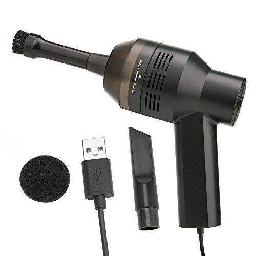 [Aspirador USB] Aimego Mini Portátil Aspirador USB Para Teclado para Computadora Portátil ,Notebook ,PC , TV Satellite Cajas, DVD, Negro