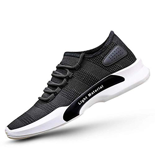 Inklenzo Light Material Men's Casual Shoes Walking Running Gymwear Sports Sneakers for Daily use Black