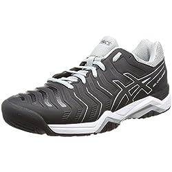 Asics Gel-Challenger 11, Zapatillas de Tenis para Hombre, Negro Black/Mid Grey 9090, 44.5 EU