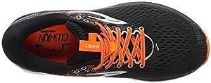 Brooks Ghost 11, Men's Running Running Shoes, Multicolore (Black/Silver/Orange 093), 9.5 UK (44.5 EU)