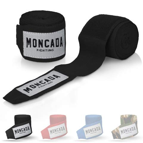 Moncada Fighting [4m Boxbandagen mit Daumenschlaufe - Bandagen Boxen Halb elastische Boxing Gloves...