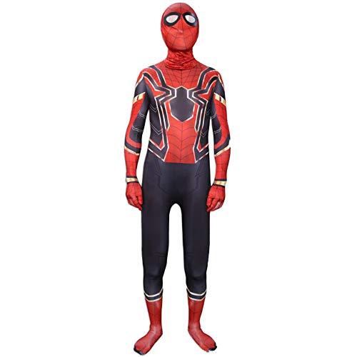 (ASPIDER Spiderman Kostüm Cosplay Avengers 3 Siam Strumpfhosen Adult Movie Party Requisiten (Farbe : Red, größe : XXL))