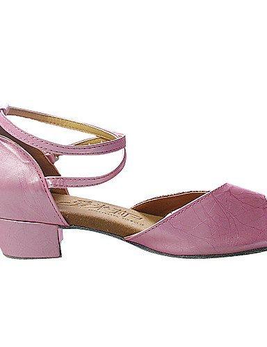 ShangYi Chaussures de danse (Argent/Rose) - Non personnalisable - Talon plat - Similicuir/Paillettes scintillantes - Danse latine/Salle de bal Silver