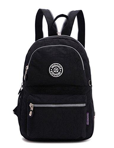 TianHengYi Girls Small Water Resistant Nylon Backpack light Sling Chest Bag Rose Black