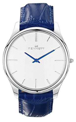 Mens Kennett Kensington Silver White Royal Blue Watch KSILWHRYBL