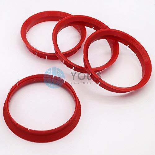 4x Plastique Bagues De Centrage 63,3-57,1 mm pour roues en alliage