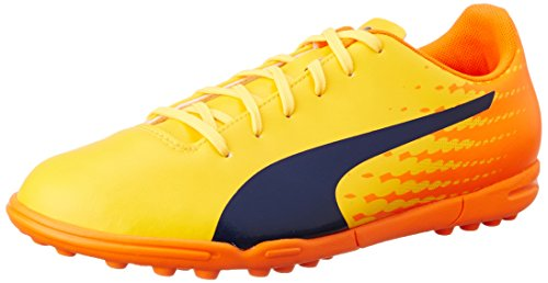 Puma Evospeed 17.5 Tt, Chaussures de Football Homme Jaune (Ultra Yellow-peacoat-orange Clown Fish 03)