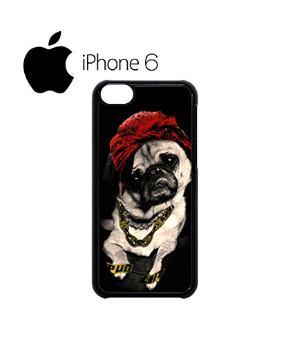 Pug Life Dog Funny Swag Mobile Phone Case Back Cover Hülle Weiß Schwarz for iPhone 6 White Weiß
