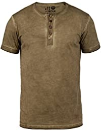 SOLID Tihn Herren T-Shirt Grandad Shirt