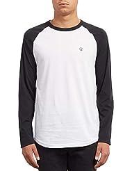 Volcom Pen BSC LS Camiseta, Hombre, Negro, L