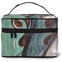 Oil Paint Cowboy Boots Portable Ladies Travel Cosmetic Case Bag Storage Makeup Pouch Multi-Function Wash Large Capacity