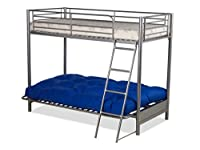FUTON BUNK BED and with navy/ blue futon mattress (top mattress at extra cost)