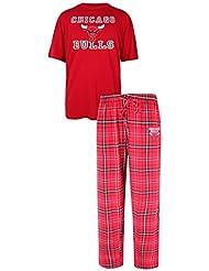 "Chicago Bulls NBA ""Game Time"" Men's T-Shirt Chemise & Flannel Pajama Sleep Set"