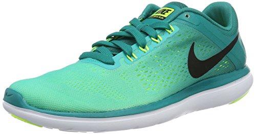 Nike Flex 2016 Rn, Scarpe da Corsa Uomo Verde (Rio Teal / Black-Clear Jade-Volt)