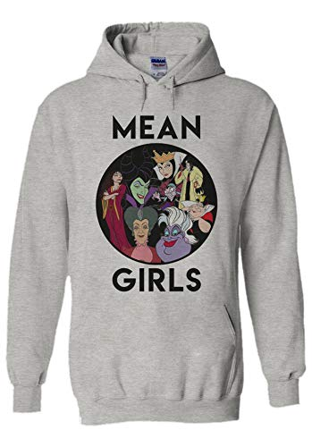 Disney Villains Mean Girls Novelty Grey Men Women Unisex Hooded Sweatshirt Hoodie-M (Disney Villains Kids)