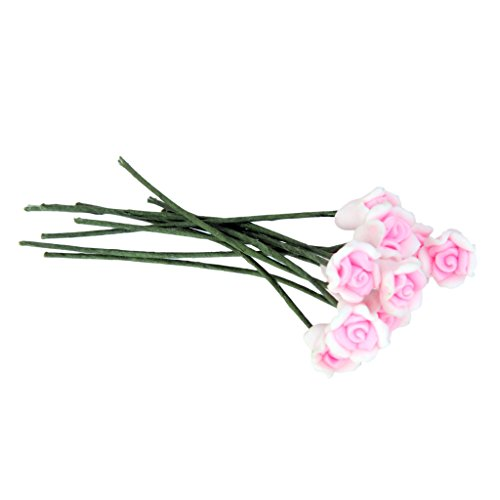 Sharplace Micro Landschaft Moos Bonsai Mini Rose Blumenstrauß Set /10Stück - Rosa Rosa Moos Rose