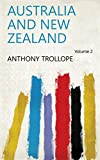 Front cover for the book Australia and New Zealand by Anthony Trollope