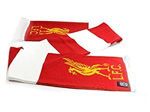 Liverpool FC Red White Striped Fan Game Team Match Scarf Scarves LFC Official by Liverpool FC