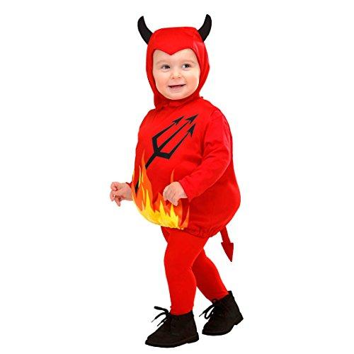 �m Teufelchen Outfit Kind 90-104 cm, 1-3 Jahre Little Devil Kinderkostüm Kleinkind Overall Satansbraten (1 2 Jahre Halloween-kostüm)