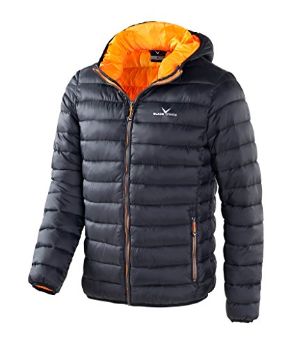 Black Crevice Herren , Herren Daunenjacke , Gr. XL , schwarz/orange