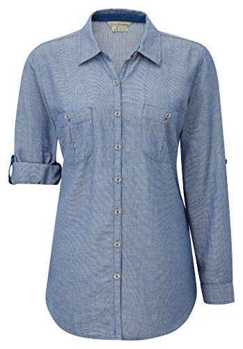 Royal Robbins Women's Cool Mesh Long Sleeve Shirt Blau Dark Lapis 2X-Large (Von Long Unten Shirt Nach Sleeve Unten)