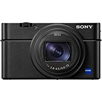 Sony RX100 VII Premium Kompakt Digitalkamera (24-200mm, F2.8-4.5 Zeiss Objektiv, neigbares LC Display, 4K HDR, 1,0 Zoll Sensor, Echtzeit-Tracking, AF mit Augenerkennung) (DSC-RX100M7) schwarz