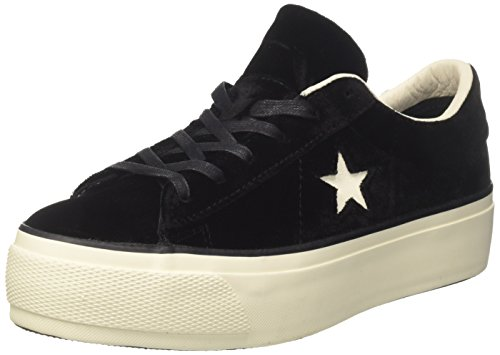 Converse Damen One Star Gymnastikschuhe, Schwarz (Black/Egret/Black), 37 EU Converse One Frauen