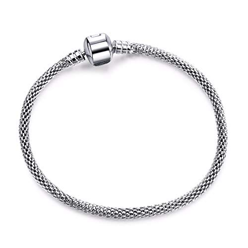 Tier-design Snap (Armbänder Armband Silber Schlange Mesh Kette Snap Einzigartige Persönliche Tier Armband Perlen Schmuck Ergebnisse Mit Europäischen Besonderen Charme Perlen Armbänder Modeschmuck Zubehör Festival)