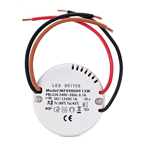 Preisvergleich Produktbild Liqoo® 12W LED Trafo Treiber Transformator Netzteil für Leuchmittel DC 12V 1A 0.5W-12W