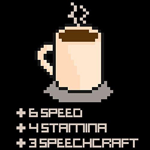 Fashionalarm Herren T-Shirt - 8 Bit Coffee   Fun Shirt als Geburtstag Geschenk Idee für Kaffee-Abhängige Gamer Schwarz