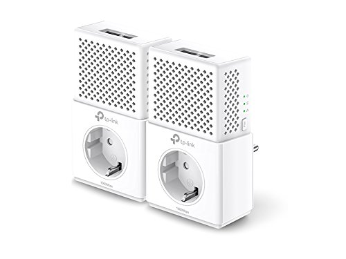 85 Mbit / S Powerline (TP-Link TL-PA7020P-KIT Powerline Netzwerkadapter Set (1000 Mbit/s über Powerline, Steckdose, 4 Gigabit-Port, energiesparend, kompatibel zu allen gängigen Powerline Adaptern, ideal für IPTV) weiß)
